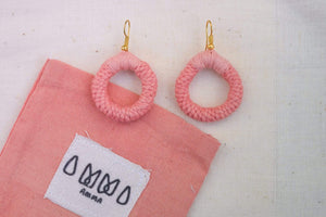 sustainable ethical handmade handloom slow-fashion Earrings Madder Handmade Naturally Dyed Cotton Earrings made in sri lanka