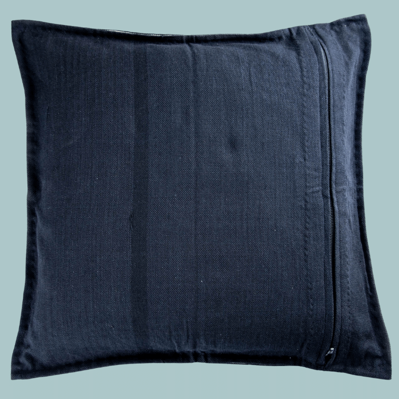 sustainable ethical handmade handloom slow-fashion Handmade Throw Pillow Case | Black & White with Color Accents made in sri lanka