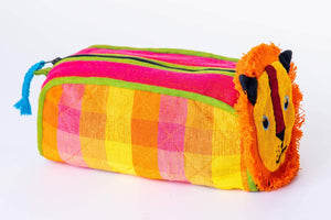 sustainable ethical handmade handloom slow-fashion C Kids Travel Accessory Bag [Lion] made in sri lanka
