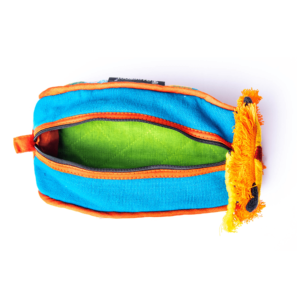 sustainable ethical handmade handloom slow-fashion Kids Travel Accessory Bag [Lion] made in sri lanka