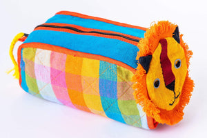 sustainable ethical handmade handloom slow-fashion Travel Accessory Bag Lion E Kids Travel Accessory Bag [Lion] made in sri lanka