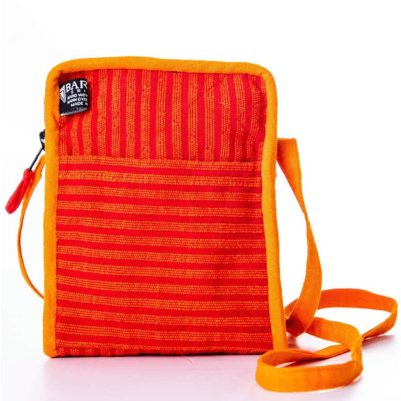sustainable ethical handmade handloom slow-fashion Small Crossbody Cell Phone Bag | Cinnabar made in sri lanka