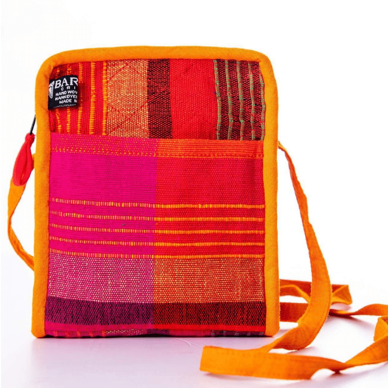 sustainable ethical handmade handloom slow-fashion Small Crossbody Cell Phone Bag | Razzmatazz made in sri lanka