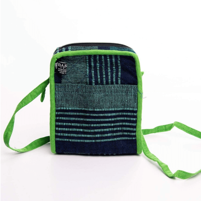 sustainable ethical handmade handloom slow-fashion Small Crossbody Cell Phone Bag | Zodiac made in sri lanka