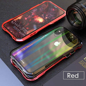 Laser back plate gradient Glass back Magnetic Phone Case For IPhone X/XS/XR/XSMAX