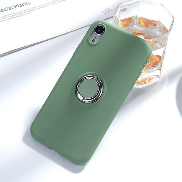 Luxury Original Magnetic Bracket Holder With 360 Phone Ring Liquid Silicone Phone Case For iPhone XS Max XR 7 8 Plus Case