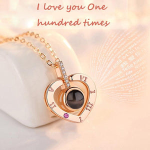 100 Languages I love You Necklace —— I love You One Hundred Times-❤❤Free Shipping!!!