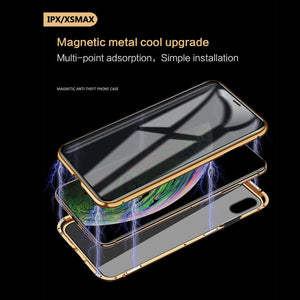 Copy of Luxury Full Body Protective Magnetic Case Anti-peeping Two Side Glass Cover For IPhone  X/XS XR XS MAX