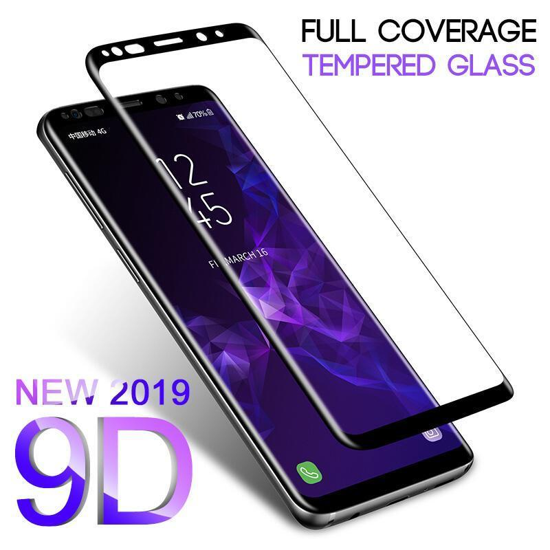 2 Pieces 9D Curved Full Coverage Tempered Glass Screen Protector For Samsung S9 S9Plus S8 S8Plus Note 8 S7Edge
