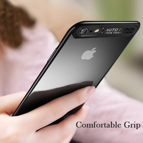 Ultra Thin Shockproof TPU Transparent Back Protective Case for iPhone X 8Plus 8 7Plus 7 6sPlus 6Plus 6S 6