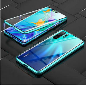 -Upgraded Two Side Tempered Glass Magnetic Adsorption Phone Case for Huawei P30 P30Pro P30Lite Mate20 Mate20pro P20 P20pro P20lite