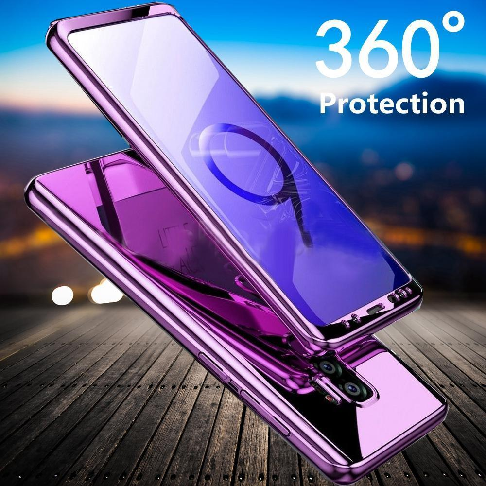 Luxury 360° Plating Mirror Phone Case For Samsung Galaxy S9 S9 Plus Note 9
