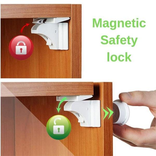 Comforly™ No-Drill Safety Magnetic Cabinet Locks