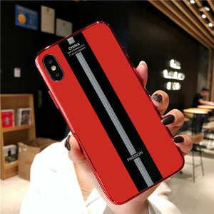 Luxury Porsche Glass Back Full Protective Case for iPhone XS Max XR X XS 7Plus 8 Plus 7 8 6sPlus 6s
