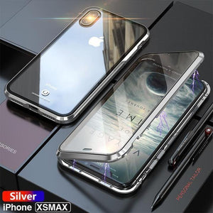 2-Upgraded Two Side Tempered Glass Magnetic Adsorption Phone Case for iPhone X XS XS Max XR 8 8Plus 7 7Plus