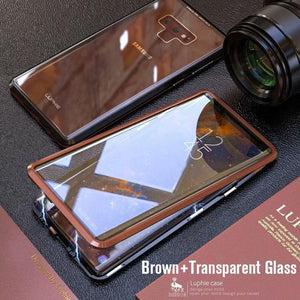 Upgraded Two Side Tempered Glass Magnetic Adsorption Phone Case for Samsung S9 S9 Plus