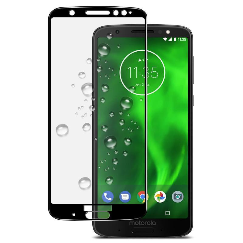 2 Packs 5D Full Cover Tempered Glass Screen Protector for Moto G6 Plus G6 Play G6