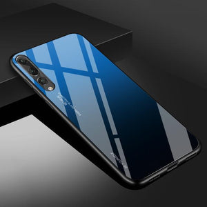 Gradient Tempered Glass Back Anti-scratch Protective Case for Huawei P20 P20Pro P20Lite Nova 3i Nova 3