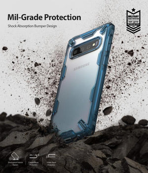 Clear PC Back TPU Jolt-Absorption Effect Bumper No-WiFi-Disruption Cover For Samsung