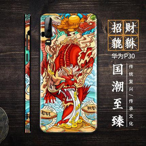 New Huawei mobile phone case ultra-thin glass tide brand Chinese style protective cover
