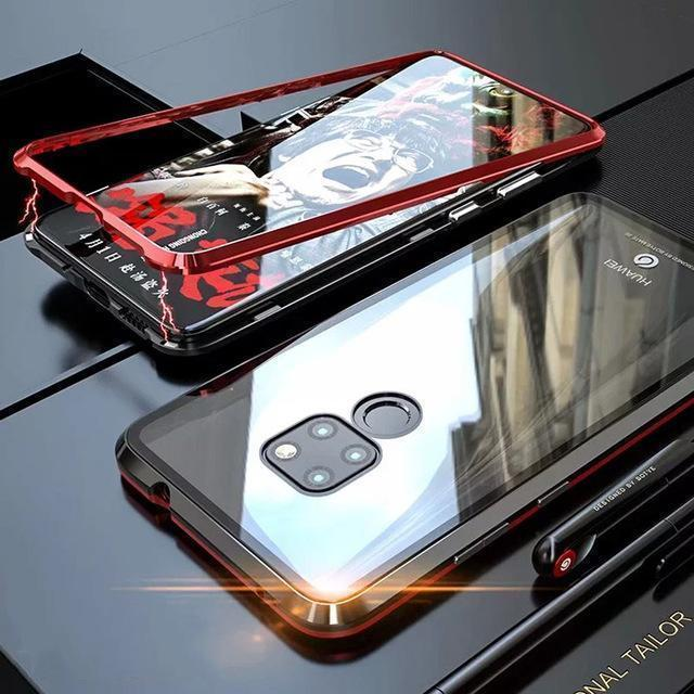 Tempered Glass Magnetic Adsorption Phone Case for Huawei Mate 20 20Pro 20X 20Lite