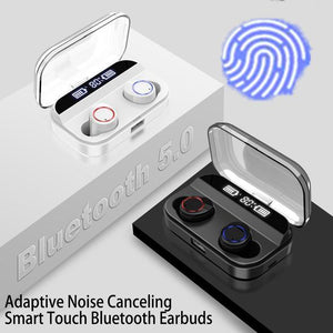 X11 TWS Earphones IPX7 Waterproof 36H Playtime Bluetooth 5.0 Stereo Hi-Fi Sound with 4000mAH Charging Case