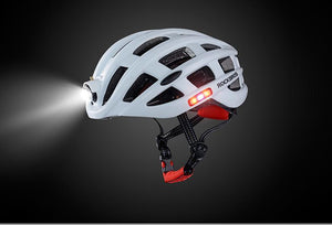 BIKE HELMET WITH USB RECHARGEABLE LIGHT