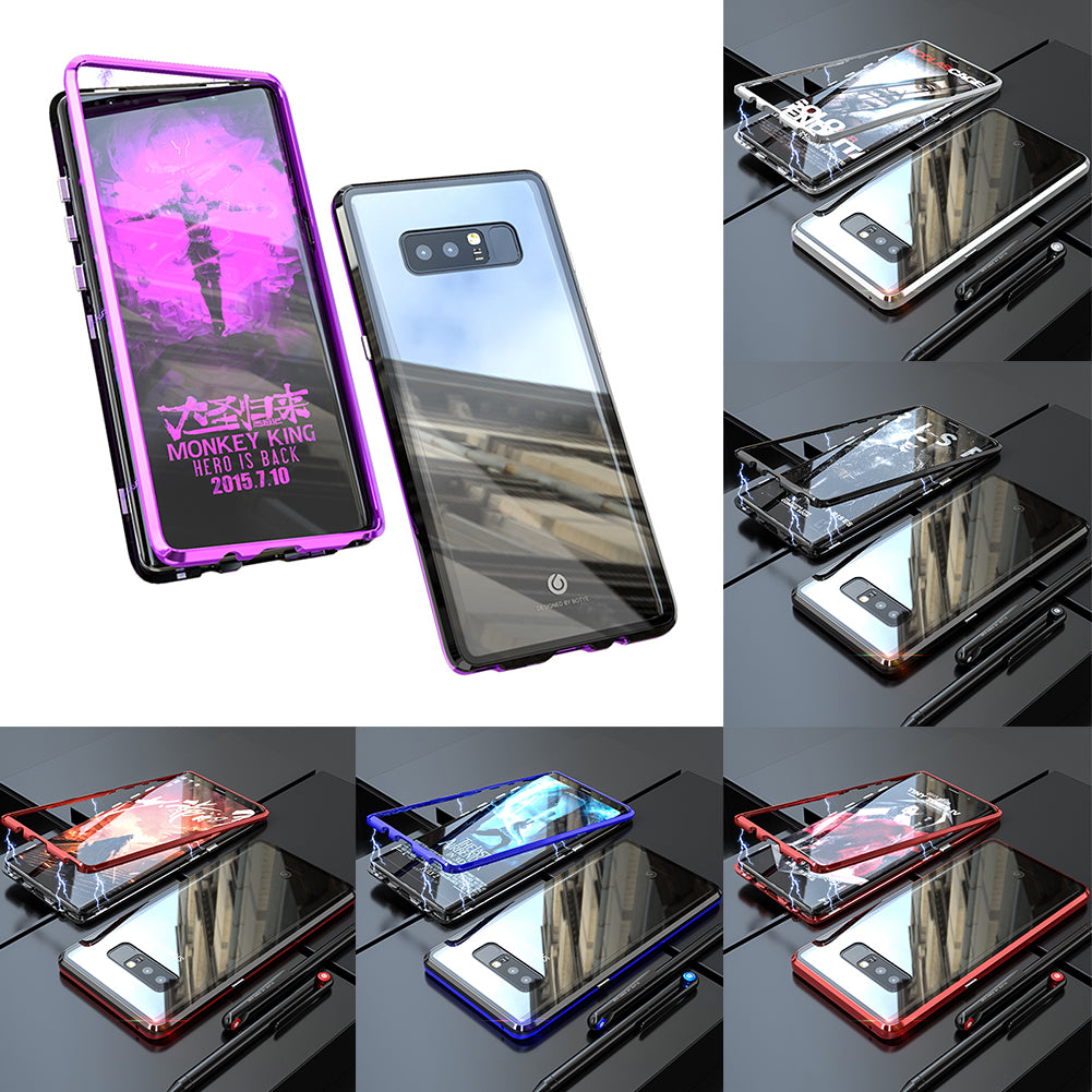 Magnetic Adsorption Transparent Tempered Glass Two side Glass Cover Phone Case For Samsung Note8/Note9/S8/S8Plus/S9/S9Plus/S10E/S10/S10Plus