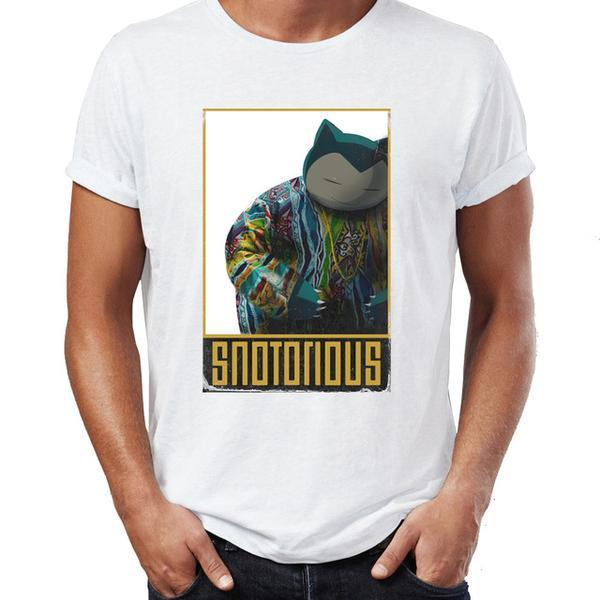 T-Shirt Pokémon ronflex notorious BIG
