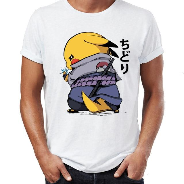 T shirt Pokemon Pikachu Sasuke