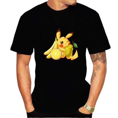 t shirt pokemon pikachu fruit