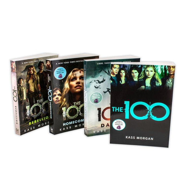 Kass Morgan The 100 Series Collection 4 Books Set Rebellion, Days 21, Homecoming