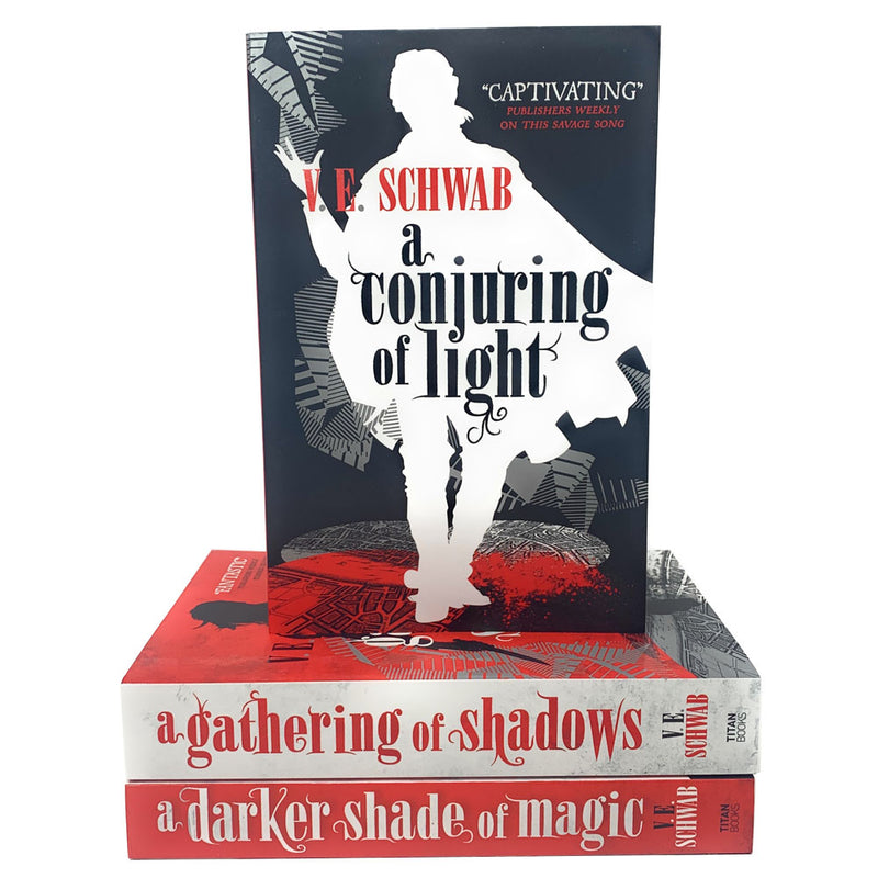 A Darker Shade Of Magic Trilogy 3 Books Set By V.E Schwab, Gathering Of Shadows