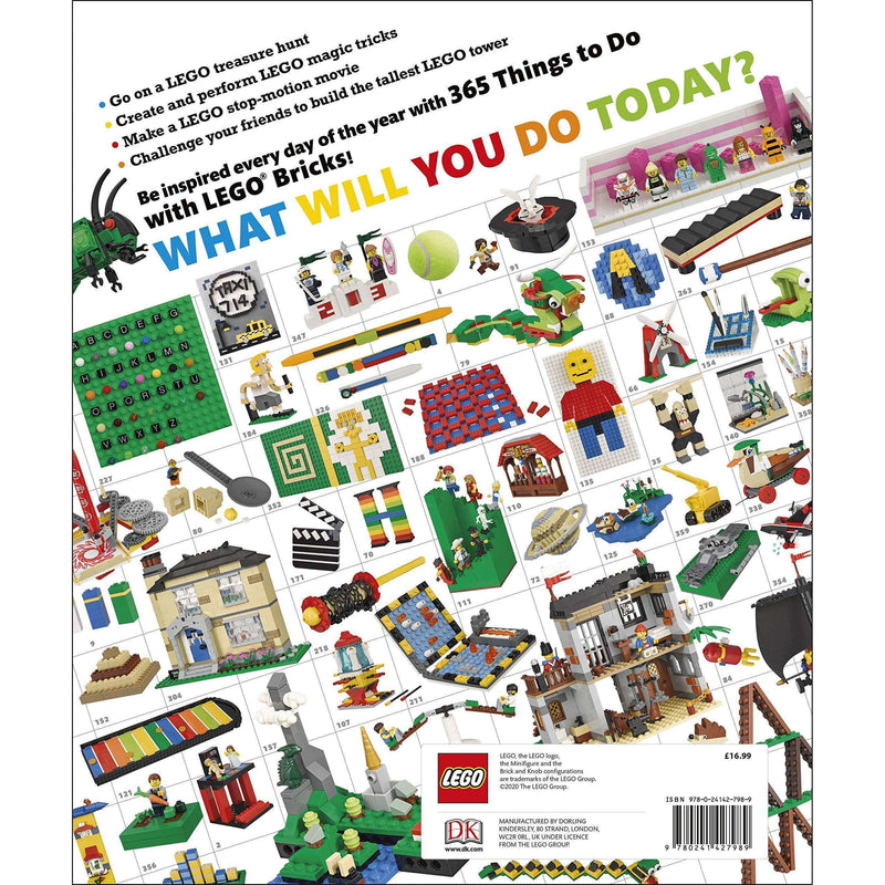 365 Things to Do with LEGO Bricks Book Manual