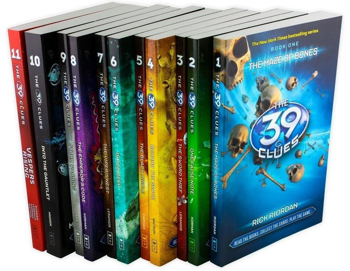 The 39 Clues Collection 11 Books Set Pack Series Collection Digital Cards