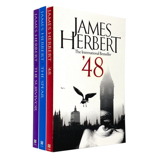 James Herbert 3 Books Set Collection Survivor, The Spear, '48
