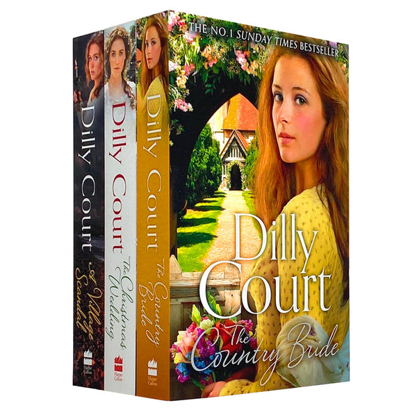 Dilly Court 3 Books Collection Set (The Country Bride, A Village Scandal, The Christmas Wedding)
