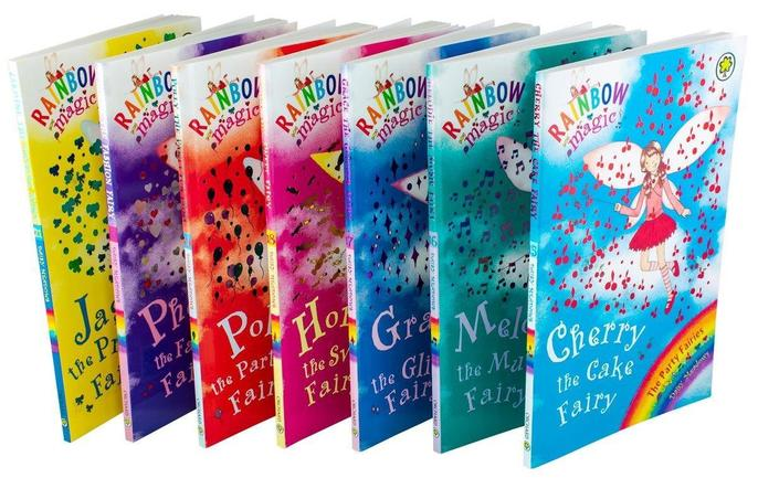 Rainbow Magic Party Fairies Collection Daisy Meadows 7 Books Set Series 3 (Vol 15 to 21)