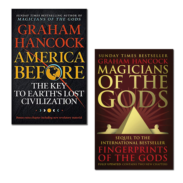 Graham Hancock 2 Books Set Collection, America Before, Magicians Of The Gods...