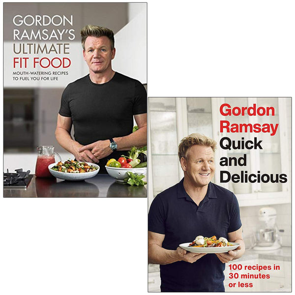 Gordon Ramsay 2 Cookbook Set Collection Ultimate Fit Food, Quick And Delicious...