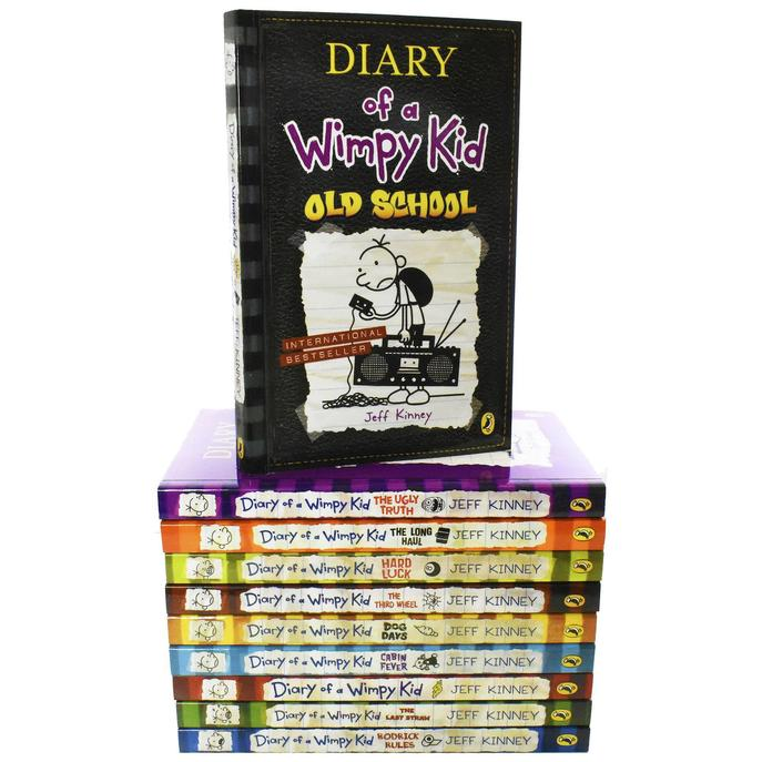 Diary of a Wimpy Kid 10 Books Box Set By Jeff Kinney Pack