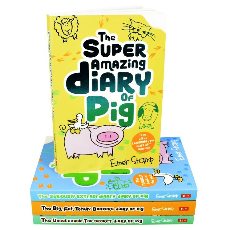 Emer Stamp 4 Books Set Collection The Seriously Extraordinary Diary of Pig