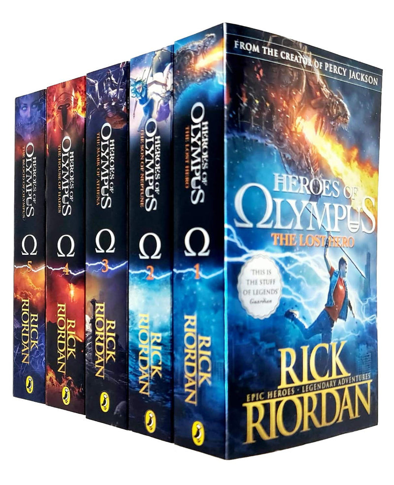 The Heroes of Olympus The Complete 5 Books Collection Set By Rick Riordan
