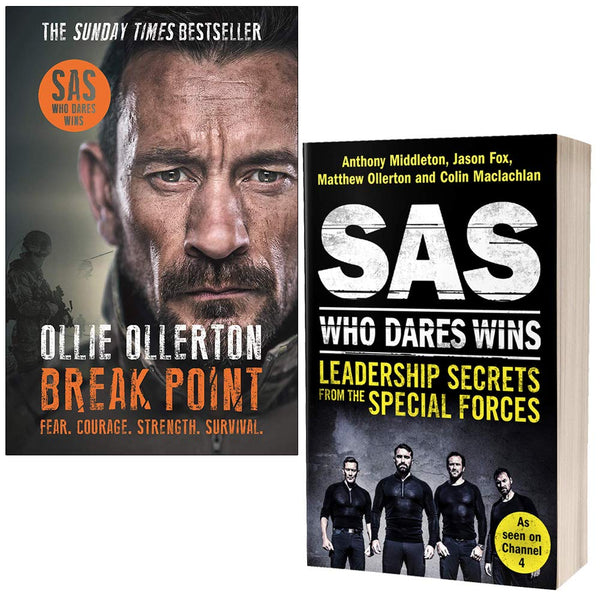 Break Point By Ollie Ollerton & SAS Who Dares Wins Leadership Secrets from the Special Forces By Anthony Middleton 2 Books Collection Set Paperback