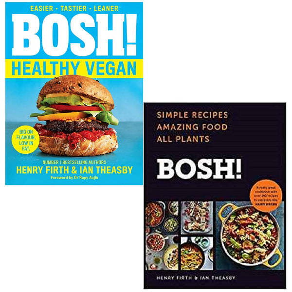 Bosh Healthy Vegan, BOSH 2 Books Collection Set By Henry Firth & Ian Theasby