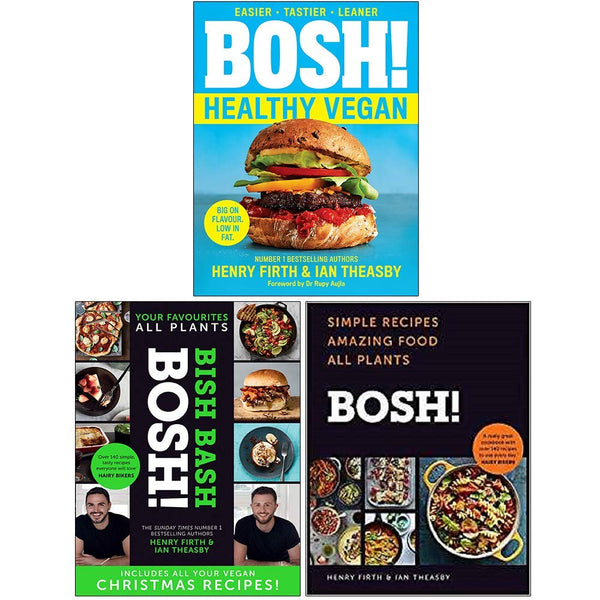 Bosh Series 3 Books Collection Set By Henry Firth & Ian Theasby Healthy Vegan