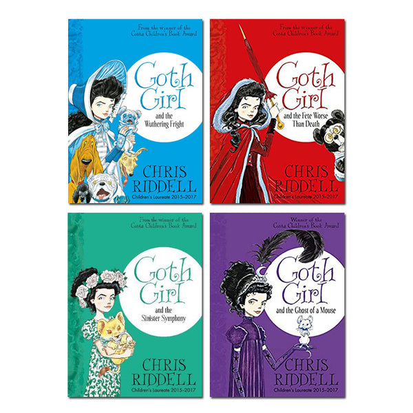 Goth Girl 4 Books Set Collection by Chris Riddell