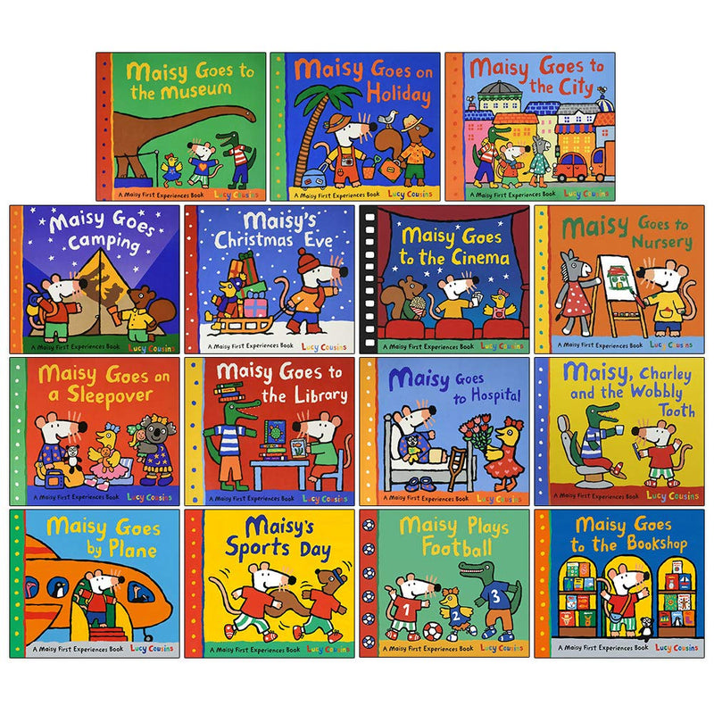 Maisy Mouse First Experiences Collection 15 Books Set Lucy Cousins Early Learners