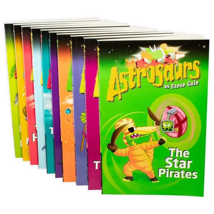 Steve Cole Astrosaurs Series Collection 10 Books Set Volume 1- 10