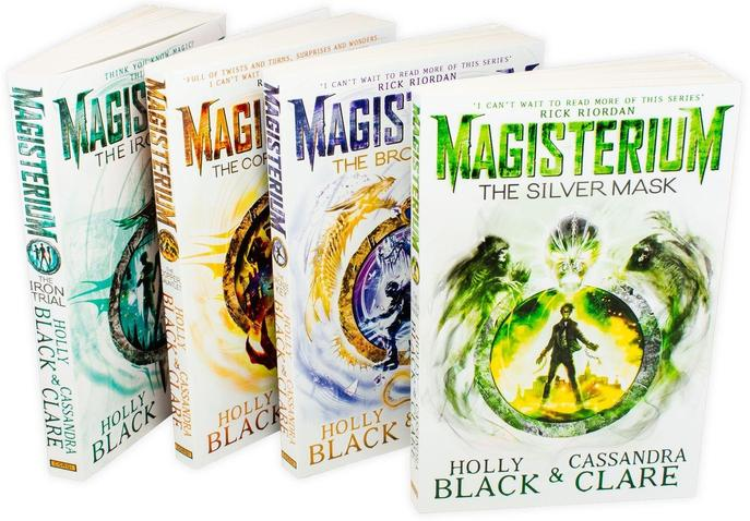 Magisterium Series 4 Books Set Collection Copper Gauntlet, Silver Mask